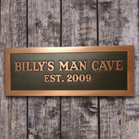 Man Room Man Cave Plaque for Him or make by AtlasSignsAndPlaques