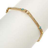 Soho Hearts - Evil Eye Station Bracelet (blue)