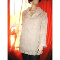 NEYELLE COAT BEIGE W PLEATED COLLAR RAINCOAT SIZE XL NWT ! on eBid United States