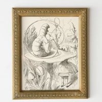 UrbanOutfitters.com > Framed Alice Caterpillar Wall Art - 8x10