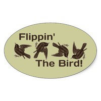 Flipping the Bird Stickers from Zazzle.com