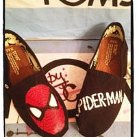 Spider-man Custom Toms Shoes