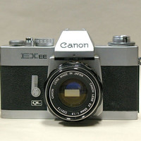 Vintage Canon EXEE  35mm SLR Camera 19691973 by CanemahStudios