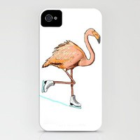 Flamingo on ice iPhone Case by Lucas Scialabba :: Palitosci  | Society6