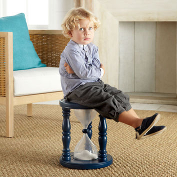 $69.00 Time Out Timer Stool? - Navy  | Stools & Ottomans | Wisteria
