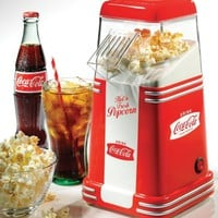 Coca Cola Mini Hot Air Popcorn Popper