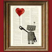 The Love Bot 3000 ROBOT geeky Valentines Day by collageOrama