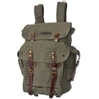 WWII Backpack Vintage Style Heavy Duty Canvas