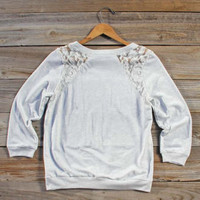 Snowed in Lace Sweatshirt, Sweet Cozy Hoodies &amp; Sweaters