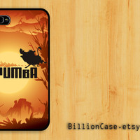Pumba Porady Movie Lion King Africa -  iPhone 5 4 / 4s Galaxy Case Hard Plastic Case Rubber Case