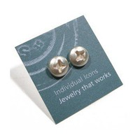 ShanaLogic.com - 100% Handmade & Independent Design! Phillips Head Post Earrings - Geek Chic