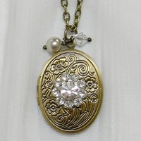 Solid Perfume Locket Necklaces - Page 1
