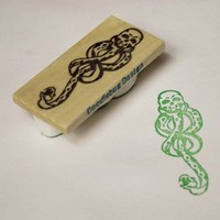 Large Dark Mark Handcarved Stamp
