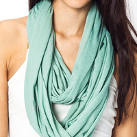 infinity-scarf BLACK BLUSH KHAKI RED SEAFOAM - GoJane.com