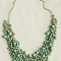royal decadence beaded necklace in mint at ShopRuche.com