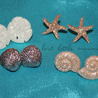 Mermaid Sparkly Earrings  The Sea is With Me by LostLittleMermaid