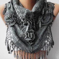 Gorgeous Scarf   Elegant and Classy...Dark gray