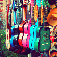 las guitarras Art Print | Print Shop