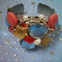 Nautical Style Cuff Bracelet by iHeartZena on Etsy