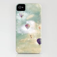 Hot Air Balloons Sailing Away iPhone Case by RebekahEDesigns | Society6