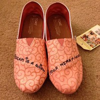 Pink And Glitter Toms Wi...