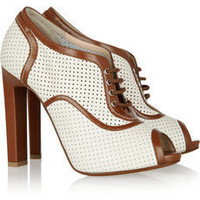 Bally|Oasis perforated leather brogues|NET-A-PORTER.COM