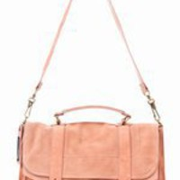 PROENZA SCHOULER LARGE BAG SUEDE - PEACH -