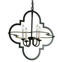 Quatrefoil Geometric Chandelier - Shades of Light