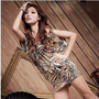Special Design Leopard Coffee Sexy Girls Dresses : Wholesaleclothing4u.com
