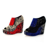 Yarns Upper High Heel Ankle Boot With Zipper Fashion Shoes - &amp;#36;60.06