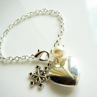 Heart Locket Silver Bracelet