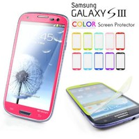 Caseology Matte Color Screen Protector Compatible with Samsung Galaxy S3 [All Versions] (Hot Pink)