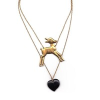 Bambi Strike Back deer necklace | Toujours Toi