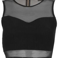 Rib Panel Mesh Crop Top - Arthaus - Collections - Topshop