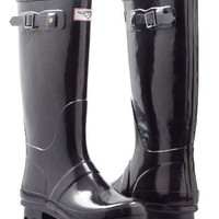 Women's Stylish Rubber Rain Boots - Hunting styles *Black*
