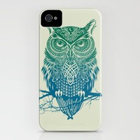 Warrior Owl iPhone Case by Rachel Caldwell | Society6