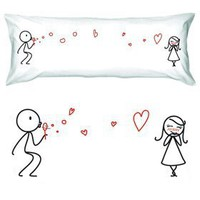 "Amazon.com: BoldLoft ""From My Heart to Yours"" Body Pillowcase-Romantic Valentine's Day Gifts for Couples,Cute Valentines Gifts for Him or Her,Romantic Anniversary Gifts: Home & Kitchen"