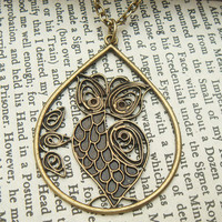 47MM Owl Brass Necklace