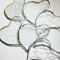 Valentine Stained Glass Hearts Suncatcher Heart by GaleazGlass