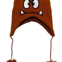 Amazon.com: Nintendo Super Mario Bros. Goomba Peruvian Laplander Knit Cap: Clothing