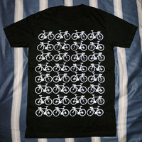 Bicycle T-Shirt -- Bicycle Shirt Art T-Shirt Funny T-Shirt Women T-Shirt Men T-Shirt Unisex T-Shirt Short Sleeve T-Shirt Black Shirt Size M