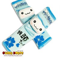 Manjyuu-kun Car Seat Belt Covers (Blue)