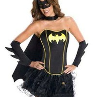 Rubies Sexy Womens Batgirl Batman Cosplay Corset Dress Halloween Costume Large
