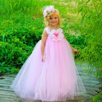 Light Pink Tutu Dress for Toddlers Flower Girl Dress for Weddings and Everyday Girl's Dress up Tutu