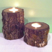Reclaimed Rustic Tea Light Candle Holders by 3SistersCountryStore