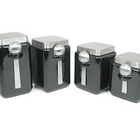 Square Canister Set (4-pc.): Black by Oggi at Food Network Store