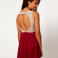 Club L Dress With Sweetheart Back at asos.com