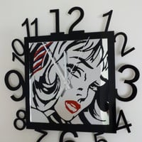 Roy Lichtenstein Girl with hair ribbon pop art mirror by ikandi11