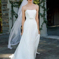 Chiffon Soft A-Line with Beaded Empire Waist - David's Bridal