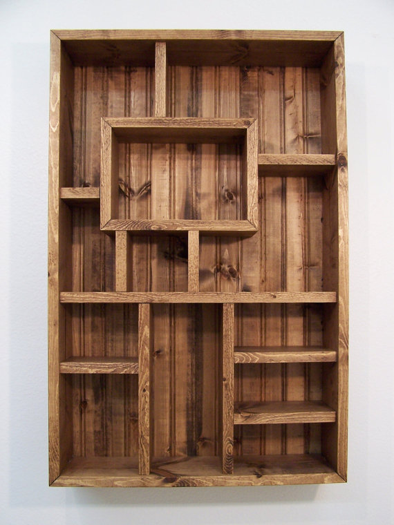 Wood Wall Shelf Display
